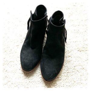 Sam Edelman black suede heeled booties